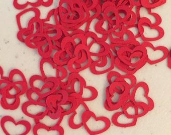 Red Heart Open Center Paper Confetti