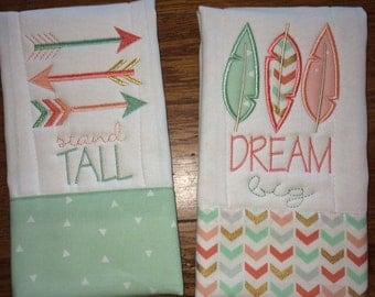 Dream big burp cloth set