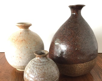 Studio Pottery Fluted Vessels