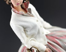 vintage coat for Silkstone Barbie doll by SL Doll Fashion
