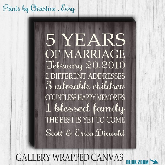... Gift Important Dates Wedding Marriage Anniversary Canvas Print 5, 10