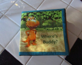 Hand made Where's  Buddy? cloth book.