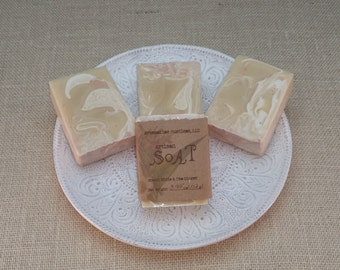 White Tea and Ginger Scented Cold Process Goat Milk Coconut Milk and Honey Artisan Handmade Luxury Soap