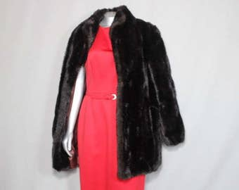 Baby it's Cold Outside Luscious Black Faux Fur Winter Coat Inauguration 2017