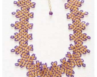 Netted Seed Bead Necklace