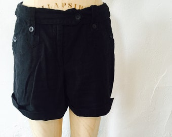 Vintage Navy Shorts / Sailor Nautical / For the Republic / Nineties 1990s 90s / Size Medium