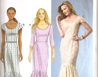 Butterick Pattern B5985 -  Tiered Ruffle Dress Size 6-14