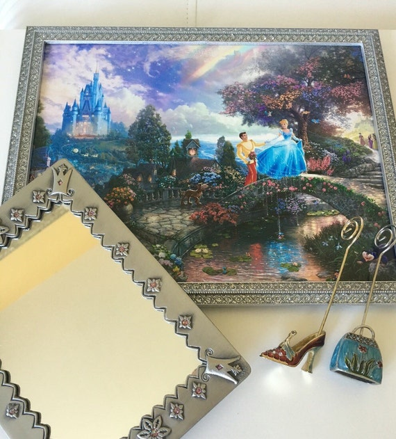 Sparkeling Silver Thomas Kinkade Disney Girls Bedroom Set