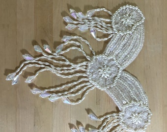 Ivory Beaded Bridal Applique