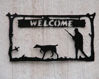 Bird Dog welcome sign. (Pointer)