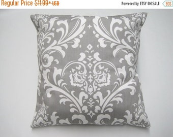 CLEARANCE SALE Pillow Cover, Pillow, Decorative Pillow, Decorative Throw Pillow, Throw Pillow, Gray Pillow, Decorative Couch Pillow, Gray Da
