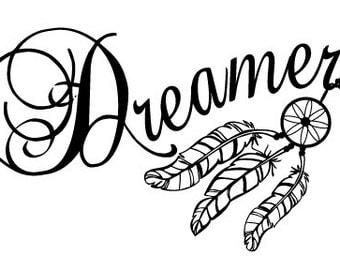 Dreamcatcher. Dreamer decal. Car vinyl sticker. Window sticker. Vinyl decal