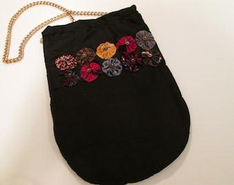 "Black silk ""Opera Bag"""