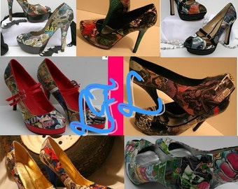 Comic Book Wedding Heels Superhero Heels Comic Heels Comic Shoes Book Heels Book Shoes