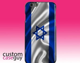 Hard Snap-On Case for Apple 5 5S SE 6 6S 7 Plus - CUSTOM Monogram - Any Colors - Israel Israeli Waving Flag