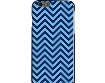 Hard Snap-On Case for Apple 5 5S SE 6 6S 7 Plus - CUSTOM Monogram - Any Colors - North Carolina UNC Tar Heels Colors - Chevron Pattern