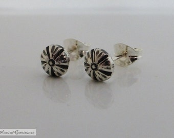 Small Silver Flower Stud Earrings