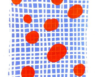 """Fine art print """"Red dots"""" by Ah-young Jeon, Giclee print, Abstract art work,Contemporary art, Abstract art print,Modern art print /475062633"""