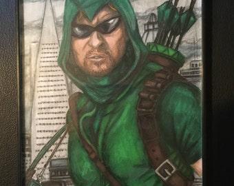 Arrow Original Artwork by Luke Lukasiak