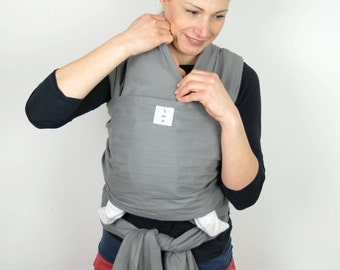 Baby wrap/ Sling Scarf/Baby sling wrap/Baby carrier /Baby wrap/ Baby Sling/Cotton Sling/ Gray baby sling/baby gift