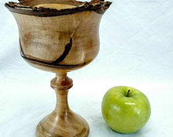 Handmade natural edge maple goblet