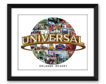 Universal Studios Islands of Adventure Parks Florida Orlando Hollywood Custom Photo Collage Vacation Wall Art Home Decor Digital Printable