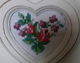 Shabby chic cross stitch