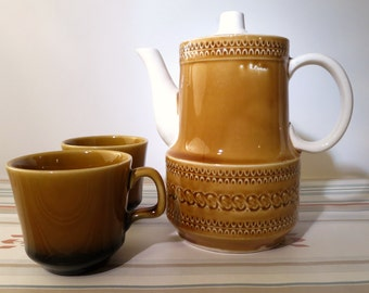 Vintage Yellow Ombre Tea Pot Set