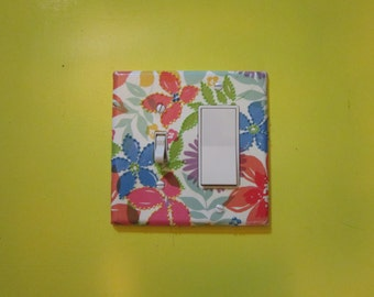 Light Switch Plates, Covers, Decorative, Tropical Floral