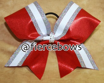Border Twin Cheer Bow - Choose Your Colors