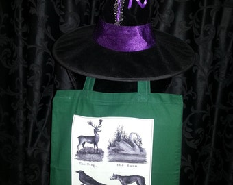 "Tote Bag ""Victorian Animals"""