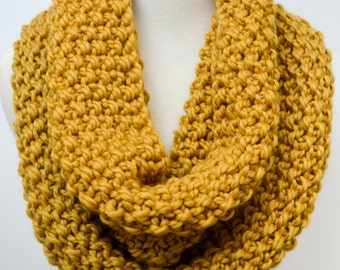The Chloe Handknit Chunky Mustard Seed Stitch Cowl/ Snood Scarf for Women