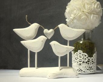 Family Wedding Cake Topper,  Wood Wedding Keepsake for your Family Cake Topper, White Wedding Topper/ Cake Decor