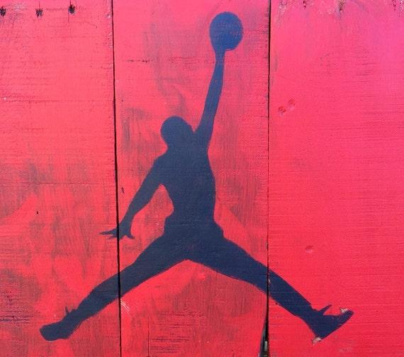Michael jordan pallet art basketball wall decor by p8ntedpallets - Michael jordan bedroom decor ...