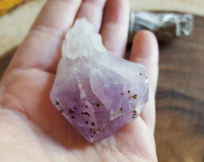 Amethyst Point from Brazil ~ 1 XL Reiki infused rough crystal approx 62x40x20mm (Apb04)