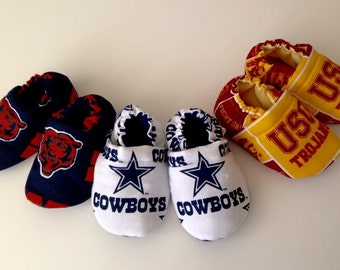 Sports team booties for infant