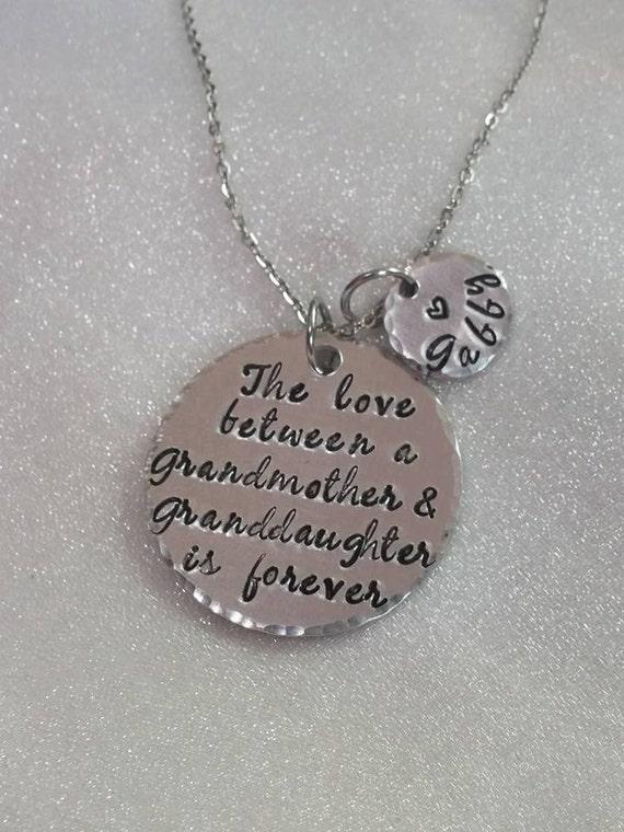 Grandmother Gift - Grandma Jewelry - Grandmother and Granddaughter - Personalized Grandma Gifts - Granddaughter Gift - Birthday Gift - Nana