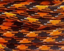 10 feet - 550 Paracord - Orange and Black Pattern