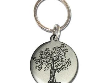 Tree of Life Serenity Prayer Double-sided Keychain