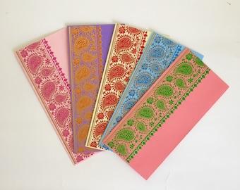Set of 5 Gift Envelopes with Tassels Money Envelopes Cash