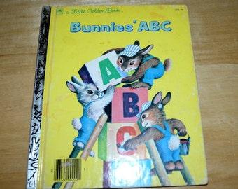 "Vintage Golden Book "" Bunnies ABC """