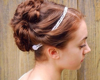 Faux pearl headband- Wedding Headband