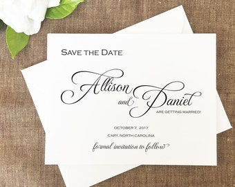 Contempo Save the Date, Modern Save the Date, Black Tie Save the Date