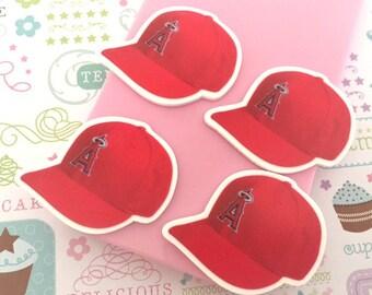 36mm Los Angeles Angels Baseball Caps Flatbacks - 4 pcs set