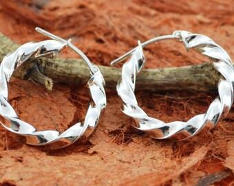 Hoop Earrings - 100% Sterling Silver