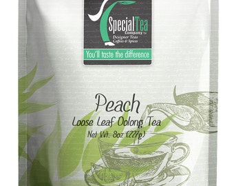 8 oz. Peach Oolong Loose Tea with Free Tea Infuser