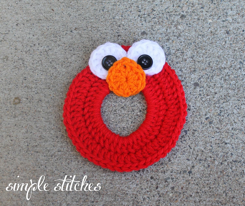 Crochet Elmo Camera Lens Buddy