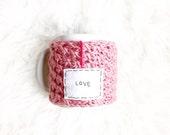 Pink Knit Coffee Mug Cozy...