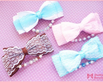 Lovelly Pearl Bow Hair Clip by Dolly House