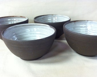 handmade bowls, white bowls, rustic bowls, shabby chic, brown bowls, pottery bowls, ceramic bowls, cereal bowls, dessert bowl, rice bowl